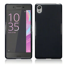 Xperia X Case Genuine Rock Cover Tech 2 Flexible Impact Resistant TPU Gel Black