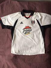 Rare Fulham FC Home 01/02 Shirt Pizza Hut Adidas. Size L.