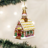 OLD WORLD CHRISTMAS GINGERBREAD CHURCH GLASS CHRISTMAS ORNAMENT 20077