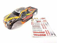 NEW TRAXXAS T-MAXX 2.5 4910 PAINTED BLACK BODY SHELL WITH DECAL SHEET TMAXX .15