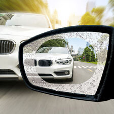 2Pcs 10*14.5cm Blue Oval Car Anti Fog Rainproof Mirror Protective Rearview Film