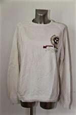 bonito suéter de hombre cuello redondo algodón blanco NAPAPIJRI talla L