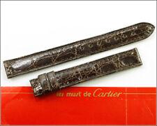 New Oem Cartier Lizard Leather Watch Band 13x13mm Dark Brown 5801A03Occa
