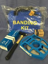New BAND-IT KIT Banding Tool Strapping Clips Hammer And Bag Industrial Fastener