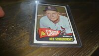 1965 TOPPS # 556 RED SCHOENDIENST   BASEBALL CARD