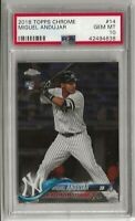 Miguel Andujar 2018 Topps Chrome Rookie Card PSA 10 Yankees #14 QTY RC