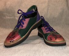 SOLETECH Hand-Painted Leather Lace-Up shoes Ankle Boot 8.5 Men's, 10 Women's