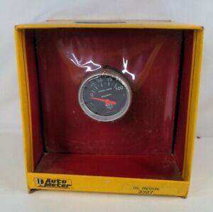 "Vtg NOS Auto Meter 3327 Sport Comp Oil Pressure Gauge Electric 0-100 PSI 2"""