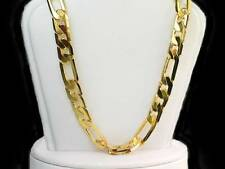 Solid 30inch  8mm wide 18k yellow gold layer  36Grs 2.5mm thick Figaro  chain