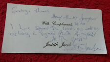 ACTRESS JUDITH JACOB AUTOGRAPHED LETTER.