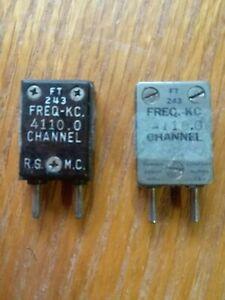LOT OF 2 - FT 243 Crystal Freq 4110.0 - R.S.M.C. - Turner - Ham Radio Receive
