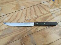 Vintage Ekco Eterna Stainless Steak Knife U.S.A Wooden Handle 6in Blade