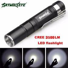 Wasserdicht 3500LM Tasche LED Taschenlampe Zoom LED Mini Penlight Lampe Licht