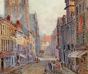 """COLIN CAMPBELL COOPER """"CATHEDRAL FRANCE"""" AUTHENTIC!"""