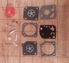 Zama RB-73 Carburetor Carb Rebuild Repair kit C1U-W47A,C-D C1U-W4, A-E US Seller