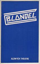 "Tim Rice Rock Opera ""Blondel""  Playbill  London 1984 Paul Nicholas"