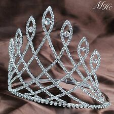 "Fantastic 6"" Pageant Tiaras Clear Rhinestones Crystal Bridal Crowns Prom Party"