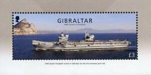 GIBRALTAR 2018 HM SHIP QUEEN ELIZABETH S/S MNH CV$8.50/FV£3.00 MILITARY