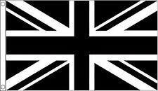 Black and White Union Jack Flag 8'x5'