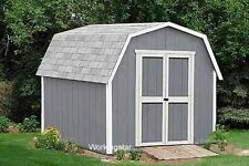 12' x 16' Barn Style Storage Shed Plans / Building Blueprints & Guides # W21216