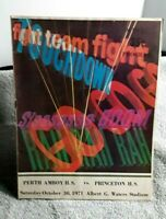 1971 Perth Amboy High School vs Princeton High School New Jersey Program