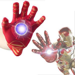 Iron man Cosplay Glove Flash Sound Avengers Kids Action Figure Cartoon Toy Gift