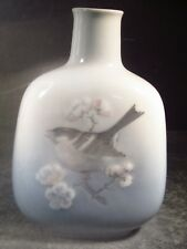 "Royal Copenhagen #4878 BIRD & CHERRY BLOSSOMS VASE  5 3/4"""