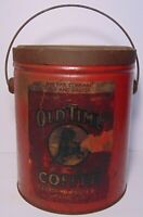Old Vintage 1940s OLD TIME COFFEE TIN 3 POUND HORSE RACING NASHVILLE TENNESSEE