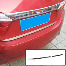 Fit For 2014- Toyota Corolla Altis Chrome Rear Trunk Lid Edge Cover Trim Garnish