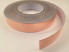 25mm X 50m Yards Copper Foil Tape Emi Shielding Conductive 165