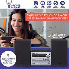 Hi Fi Stereo Panasonic CD Music System Mp3 Wireless Bluetooth 2x Speakers