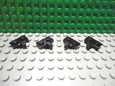 Lego 4 Black 1x2 hinge plate with 1 side finger NEW