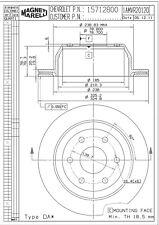 Disc Brake Rotor-Extended Cab Pickup Rear Magneti Marelli 1AMVR20120