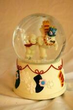 Dept 56 Snowbabies 2001 Catch Me If You Can MusicalSnow Globe Frosty The Snowman