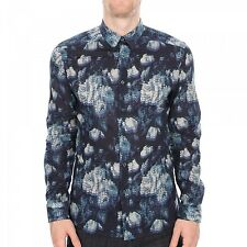 Paul Smith PS Shirt- BNWT Navy Floral Slim-fit Shirt Size: Medium RRP: £139