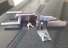 Glastürbeschlag-Set,PZ abschließbar Glastürbeschläge, Edelstahl, f.Glastür Büro