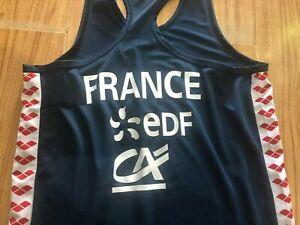 Genuine Arena eDF Electricite De France Olympic National Swim Team Track Singlet