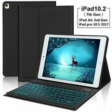 Keyboard Case For New iPad 10.2 7th Generation 2019, Slim Lightweight Smart