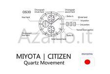 Movimento Miyota 0S30 cronografo quarzo Movement chrono quartz OS30 watch Japan