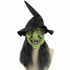 Witch Mask Halloween Scary Latex Cosplay Horror Old Full Face Costume Party Prop