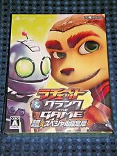 PS4 Ratchet & Clank THE GAME Super Special Limited BOX with Blu-ray Movie & Book