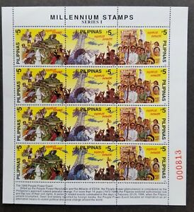 [SJ] Philippines Millennium 1999 People Power Revolution Military (sheetlet) MNH