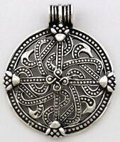 Vingard Wikinger Kreuz Anhänger Silber Gothic Schmuck - NEU