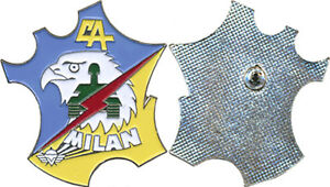 1° Régiment de Chasseurs Parachutistes, C.A, MILAN peint, attache pin's, (0338)