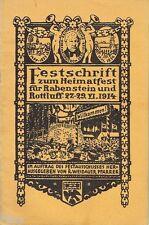 Festschrift zum Heimatfest für Rabenstein und Rottluff 1914 Chemnitz