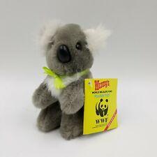 Wendy's Stuffed Plush Toy Koala Bear Vintage 1988 World Wildlife Fund Wwf Nice