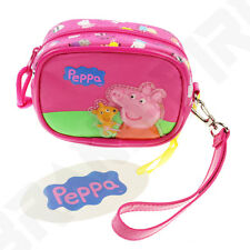 Peppa Pig with Ted - Purse Wrist Bag Pouch Case - Gift Stocking Filler 289