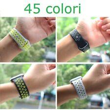Cinturino in silicone per Apple Watch Nike serie 1 2 3 4 5 6 SE 38 40 42 44 mm