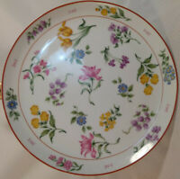 "Vintage 1984 Georges Briard ""Floral Fantasy"" Cake Stand Plate 10.25"" Diameter"