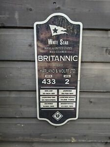 White Star HMHS Britannic Plaque